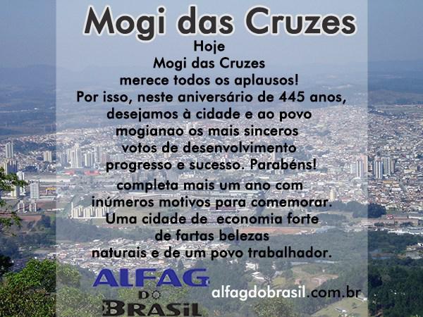 Alfag do Brasil parabeniza Mogi das Cruzes
